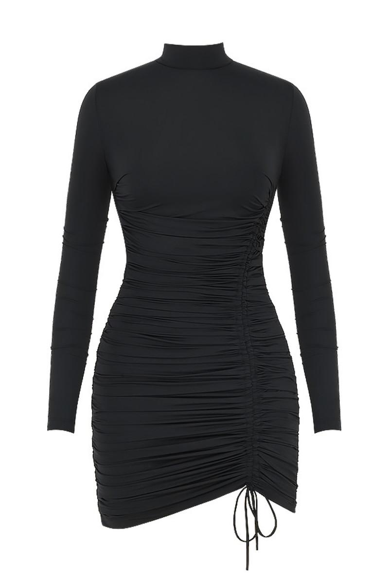 Lycra mini black dress